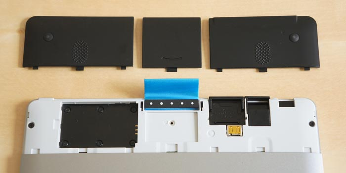 Compartments for wireless and battery