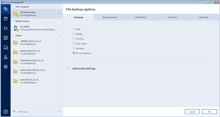 ATI backup options