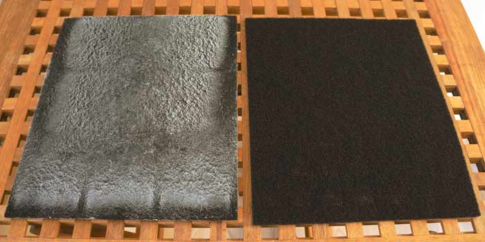 Electrolux EAP 150 air cleaner pre filter comparison.