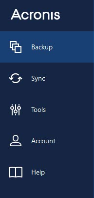 Acronis toolbar