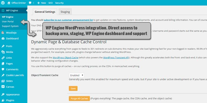 WordPress WP Engine integration