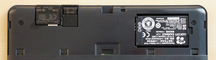 Wacom tablet compartments