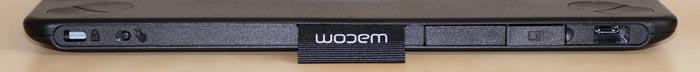 Wacom tablet rear edge features