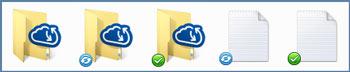 Acronis Sync Folder Icons