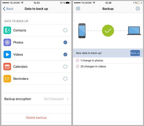 Acronis True Image backup app
