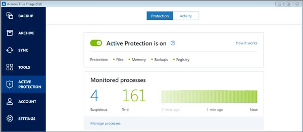 New active protection dashboard in ATI 2018